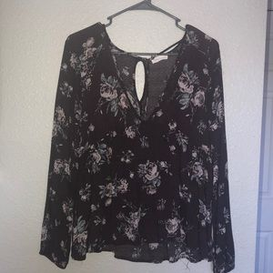 Plum Floral blouse